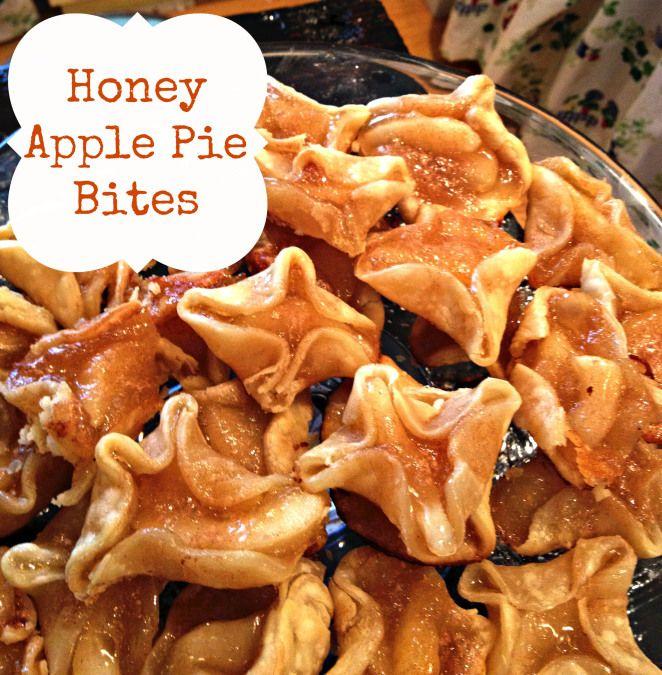 honey apple pie bites - easy dessert and few ingredients