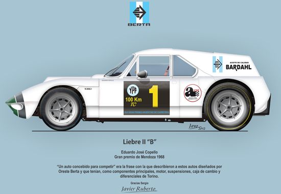 """La Liebre II """"B"""" Eduardo José Copello Gran premio de Mendoza 1968"""