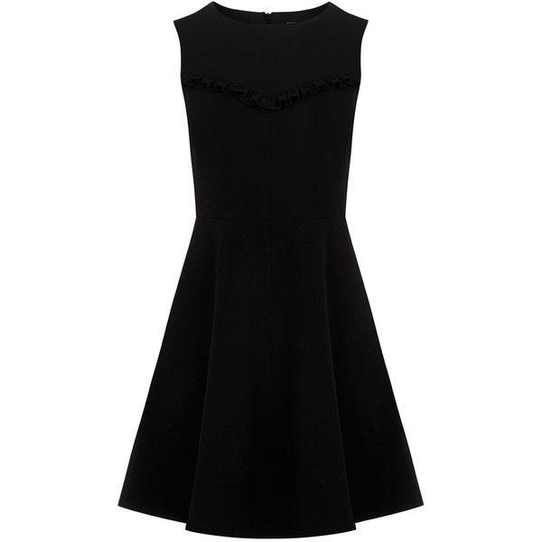 FRILL DRESS found on Polyvore featuring dresses, twisted skater dress, ruffle dress, lbd dress, flounce dress and frill dress
