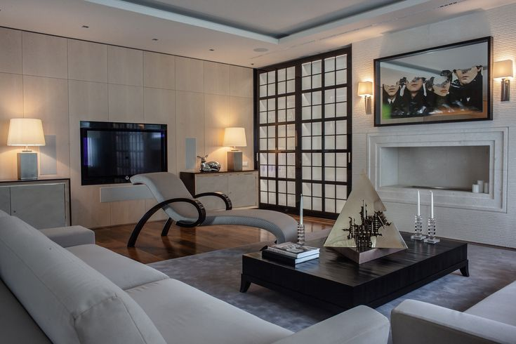 Apartment  on Patriarshy . Living room . Arnaldo Pomodoro  sculpture &  Borronini, Armani Casa.