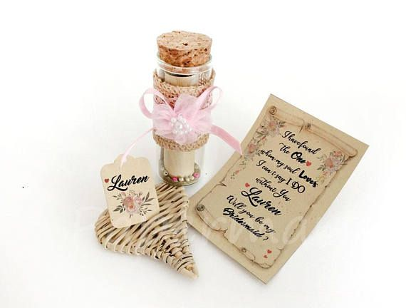 Will You Be Scroll  Floral Invitation DEPOSIT_Scroll in a