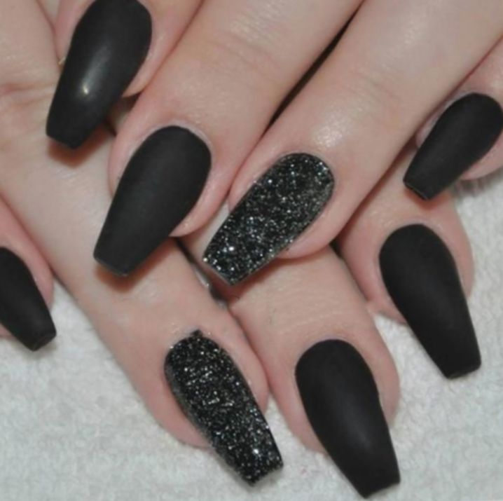 Halloween Nails Coffin Black #quotes #pumpkins #drinks ...