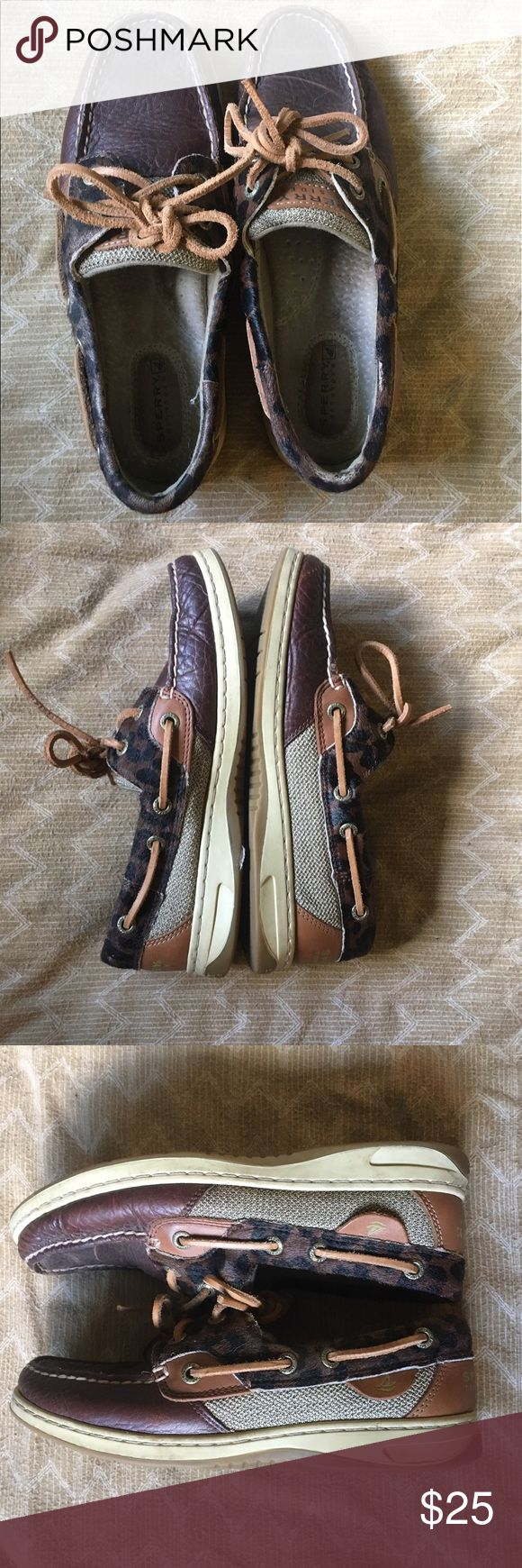 ‼️ SALE Sperry Women's Cheetah Print Sperry Women's Cheetah Print - Good condition. Would look great with some minor cleaning/polishing of the leather parts. Sperry Shoes
