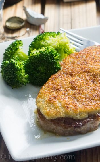 Parmesan Crusted Steaks  -going to try with almond flour instead of Panko