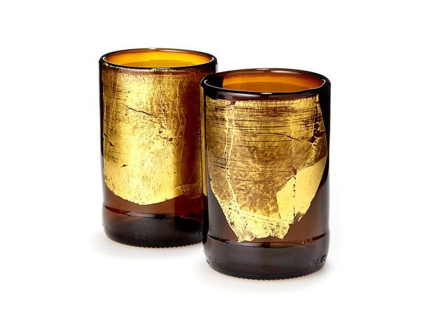 Groomsmen Gift Idea! These tumblers are from Uncommon Goods, but you could upcycle your own beer bottles for a DIY groomsmen gift. Get more gift ideas here >> http://www.hgtvgardens.com/weddings/garden-gifts-for-the-groomsmen?s=1&?soc=pinterest