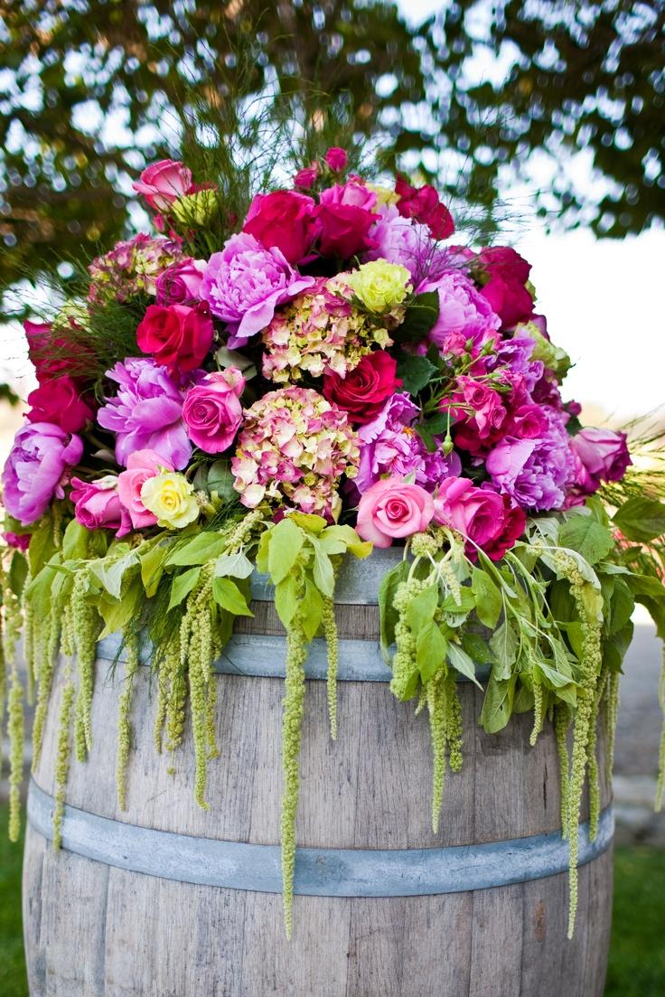 42 best flowers images on pinterest wedding stuff weddings and wine barrel arrangements thepetalcompany izmirmasajfo Choice Image