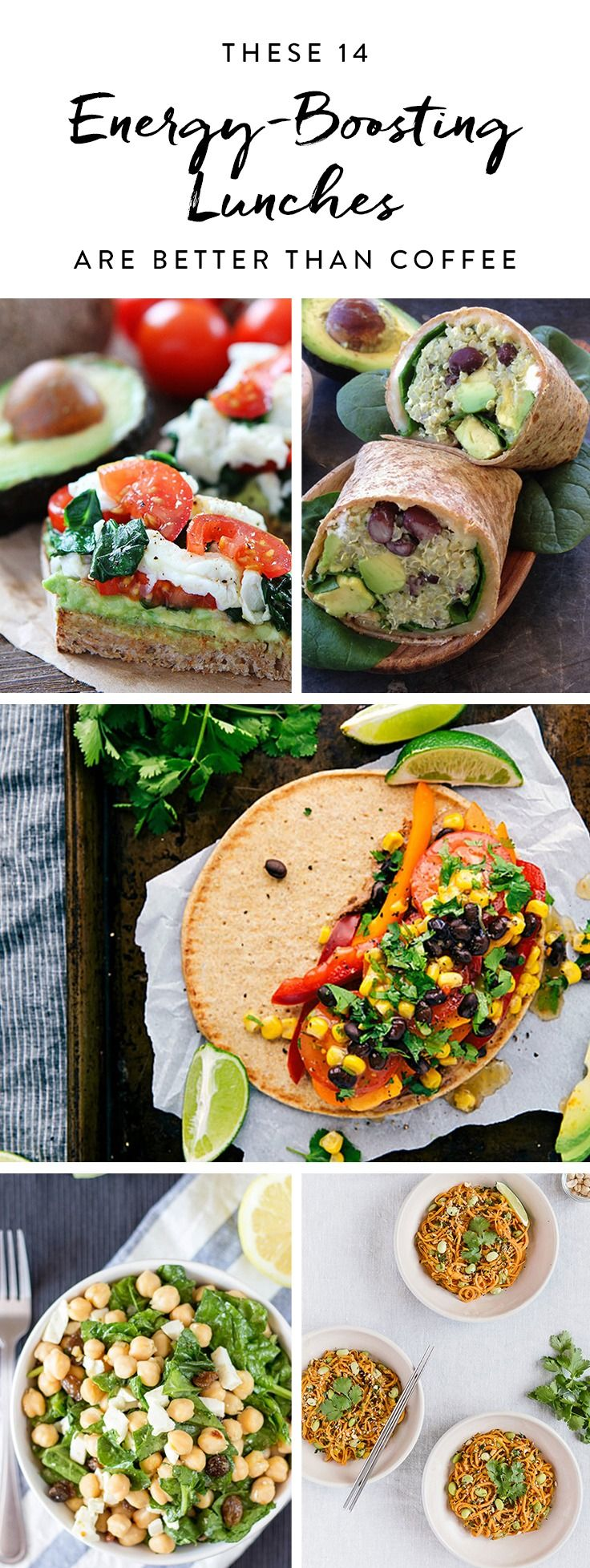 Try these energy-boosting lunch recipes designed to give you more energy than coffee and leave you ready to tackle the rest of the day.