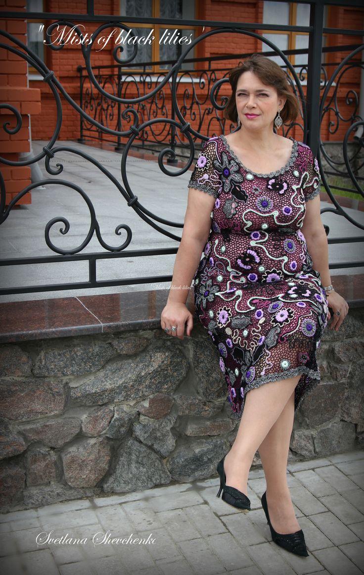 "Dress ""Mists of black lilies"" (Irish lace by Svetlana Shevchenko) - Платье ""Туманы чёрных лилий"" (ирландское кружево Светланы Шевченко)."