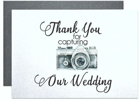 Thank You Card to Your Photographer Videographer by PicmatCards