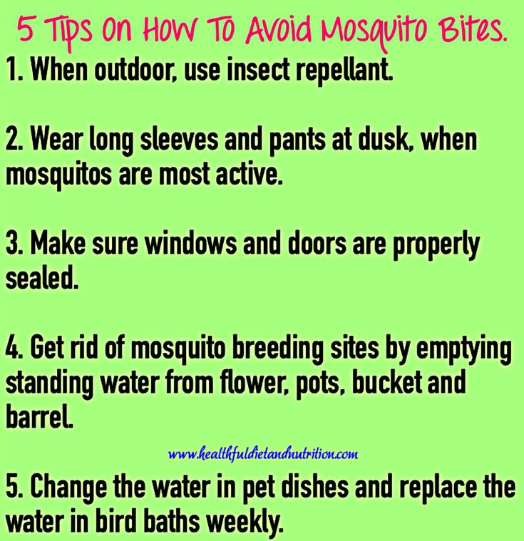 how to avoid mosquito bites