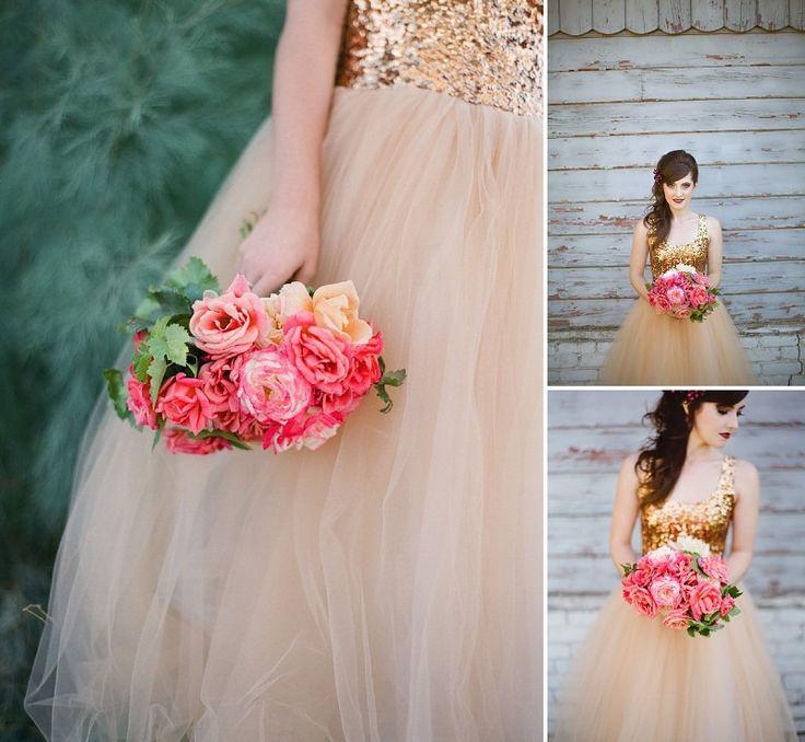 5OakandtheOwl_Gold Sequined Wedding Dress