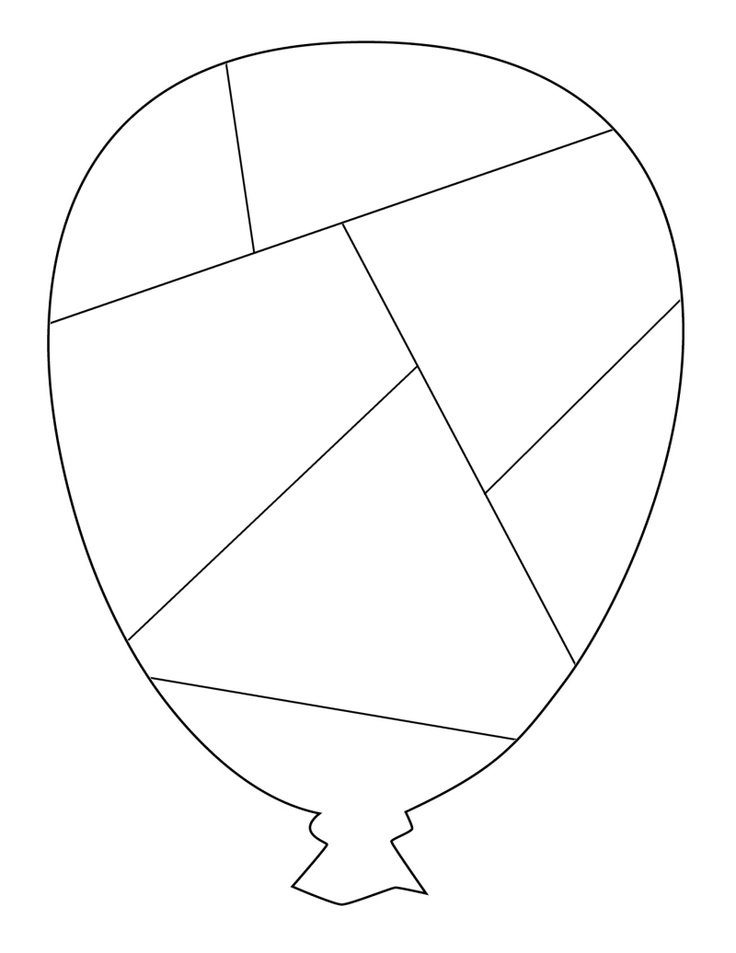 Balloon Puzzle Template - free to use