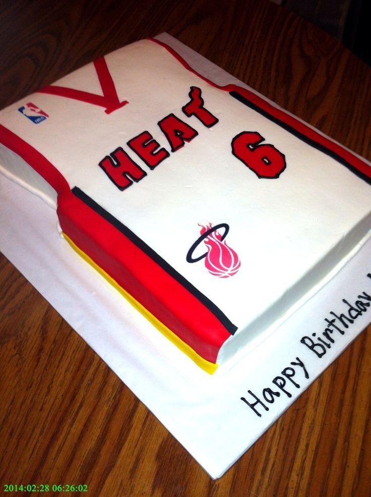 Miami Heat Jersey Cake