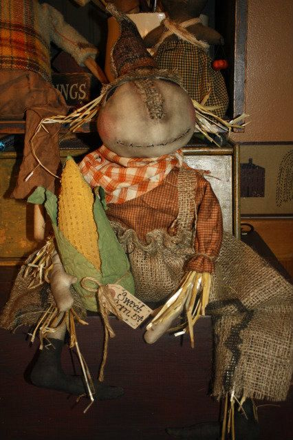 Primitive Scarecrow Epattern by YankeeRidgePrimitive on Etsy https://www.etsy.com/listing/159238581/primitive-scarecrow-epattern