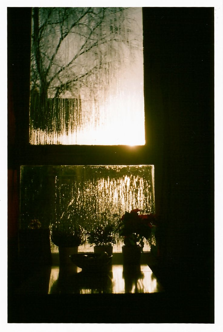 Winter sun condensation.