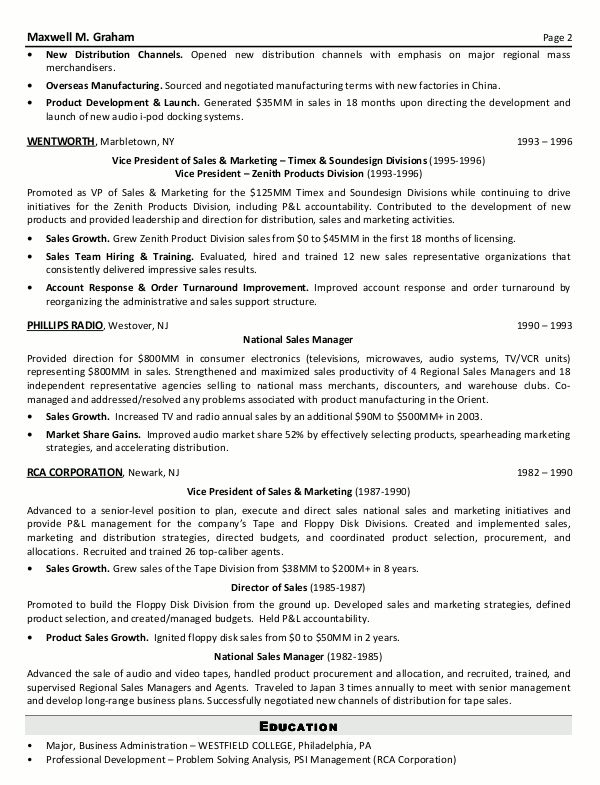 Resume Senior Sales Executive -    wwwresumecareerinfo - sales manager sample resume