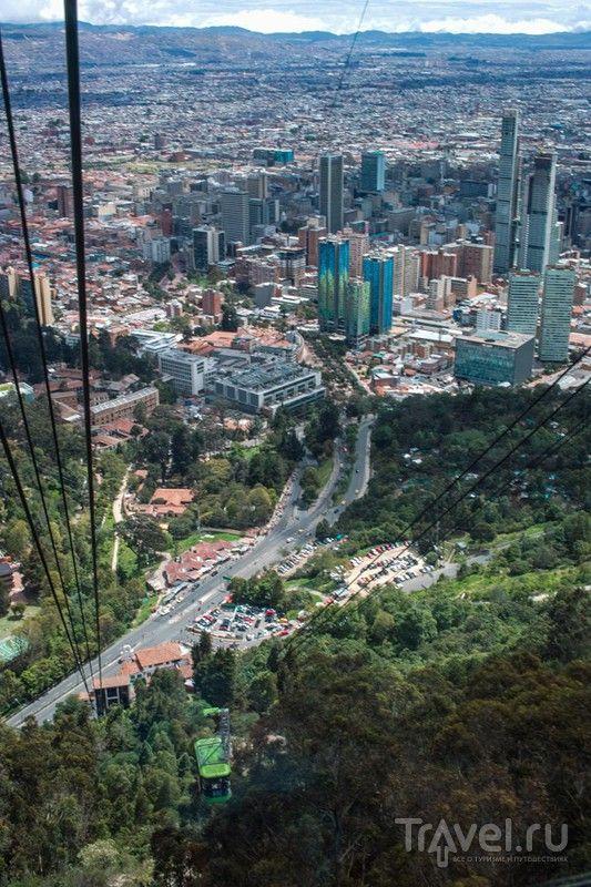 Богота, Колумбия: гора Монсеррат