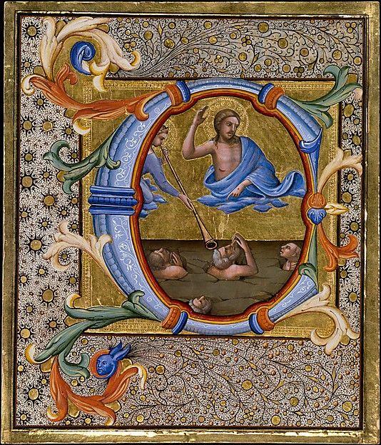 Last Judgment in an Initial C Lorenzo Monaco (Piero di Giovanni) (Italian, Florence (?) ca. 1370–1425 Florence (?))