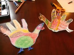 Crafts for Kids - Trace your hand turkey craft