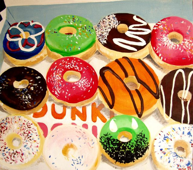 Donuts acrylic on canvas