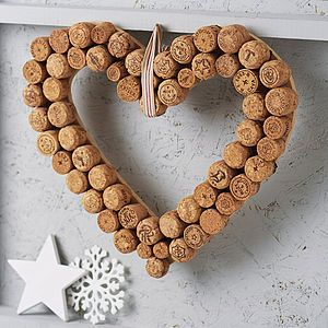 Heart Cork Wreath - gifts for the home                                                                                                                                                                                 More