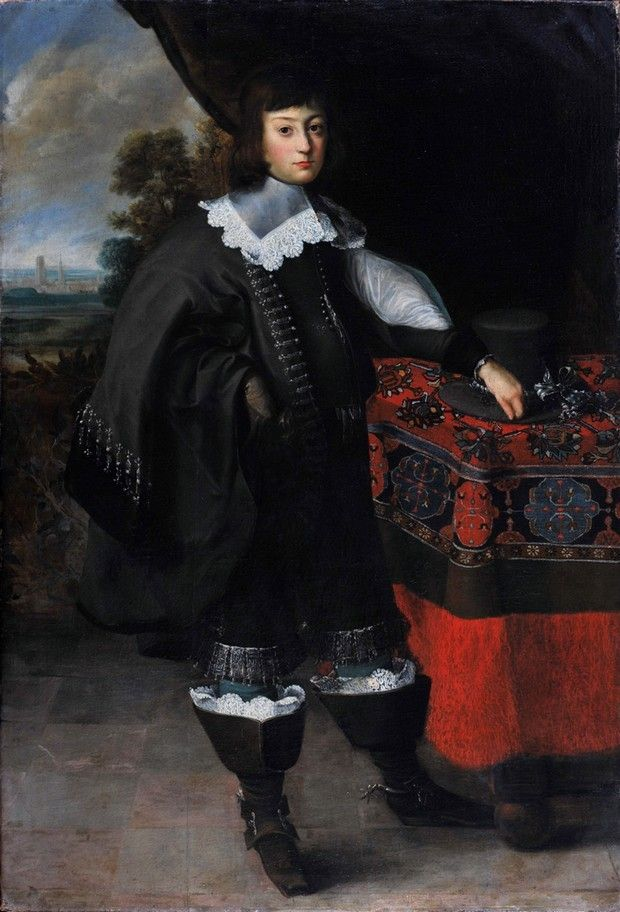 """Portrait of an Unknown Young Nobleman from the City of Gdansk"" by Peter Danckerts de Rij (17th Century)"