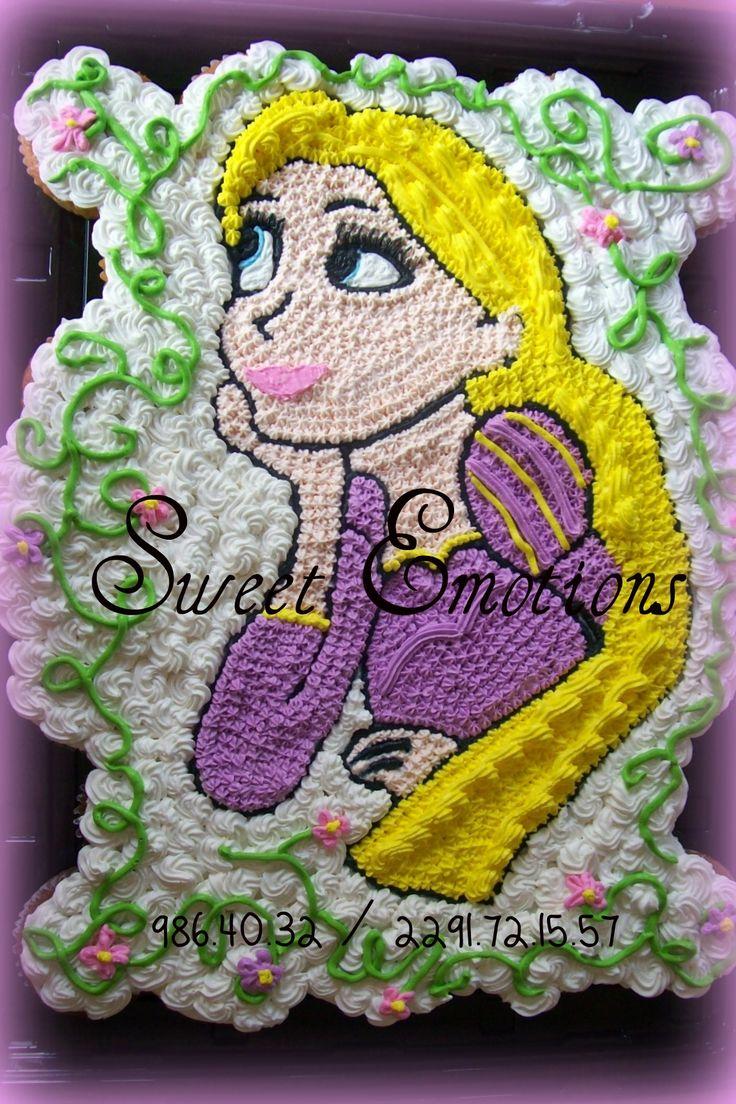 Rapunzel Pastel De Cupcakes Princesas Pinterest