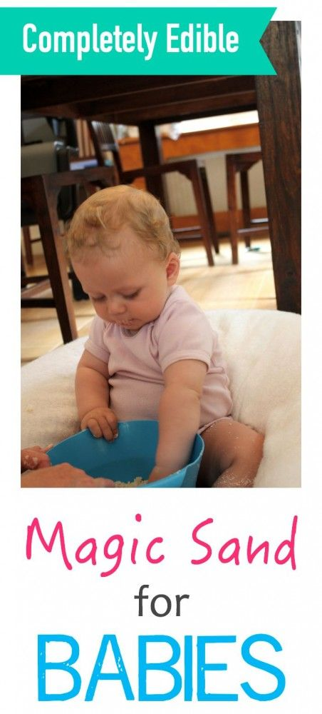 Completely edible - this magic sand - or cloud dough - is a fantastic sensory experience for baby and toddler!