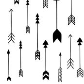 Arrows Black and White by milchundhonig