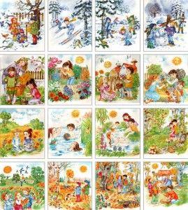 vremenagodakartinki2 269x300 Картинки времена года для детей