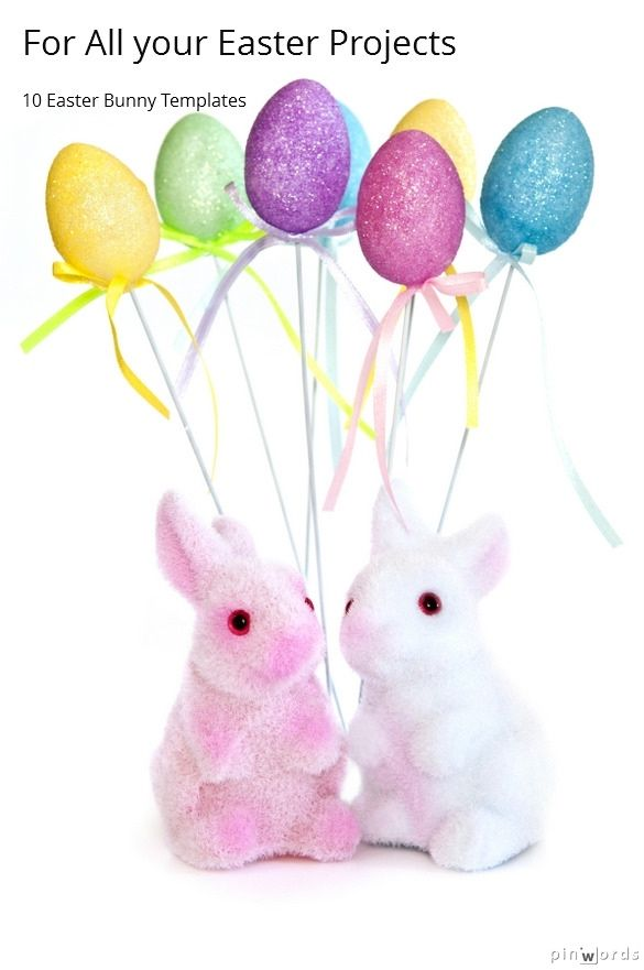try one of these ten free easter bunny templates for your dtp projects