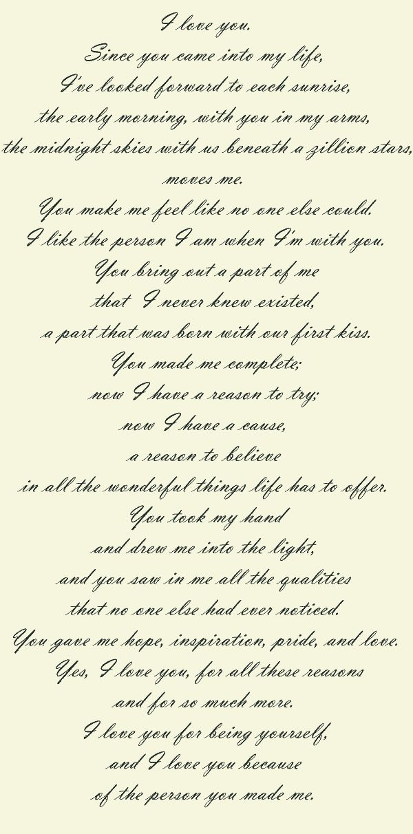 Wow, I love this love letter!!! ❤❤❤❤ I want to write a love letter to my husband the day before we marry if I ever get married again!! Something he can read right before we walk down the aisle!! -Brandy Mathews