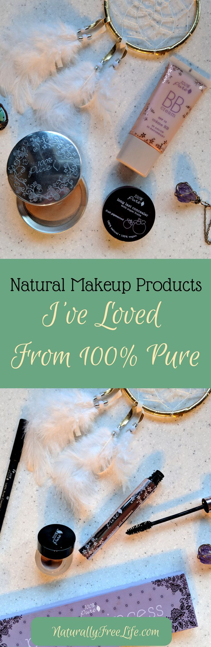 I've found some great natural, non-toxic makeup products at 100% Pure, a natural makeup company dedicated to clean beauty, purity, and quality! Read more at Naturally Free Life! #naturalmakeup #cleanbeauty
