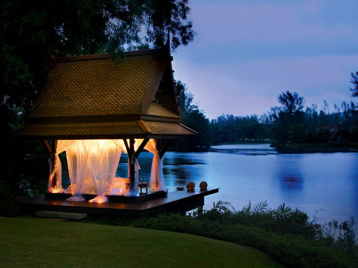 The perfect location for a romantic dinner at DoublePool Villas by Banyan Tree, Thailand  www.islandescapes.com.au