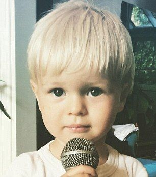 Ray grandson of Mick Jagger, age 2 cute kid!