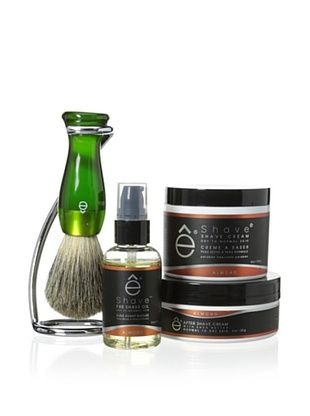 50% OFF eShave 4-Piece Collection with Twist Stand in Almond Scent, Green