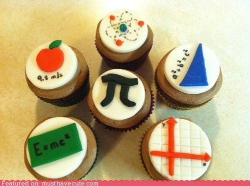 Physics and Math Cupcakes........Good teaching opportunity