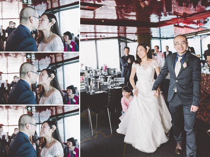 Wedding Ceremony at Eureka 89. Melbourne Wedding Photography.