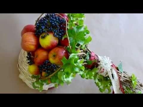 (32) Флористика Букет из яблок в спиральной технике (Мастер Класс) Flowers. Floral lessons. - YouTube
