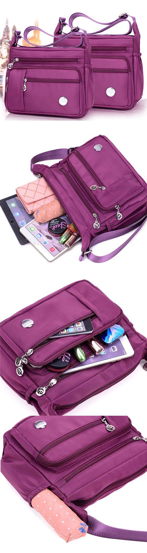 US$15.49  Women Waterproof Light Shoulder Bags Outdoor Sports Crossbody Bags Shoulder Bags