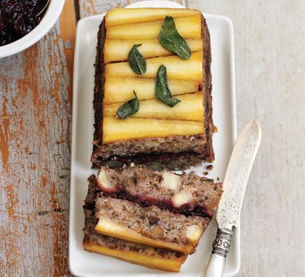 A modern take on the nut loaf, this makes a great vegetarian centrepiece for Christmas Day or a special dinner