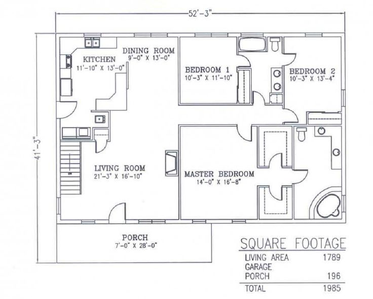 steel buildings with living quarters floor plans | bedrooms 3 bathrooms 2 living square feet 1789 total square feet 1985 ...