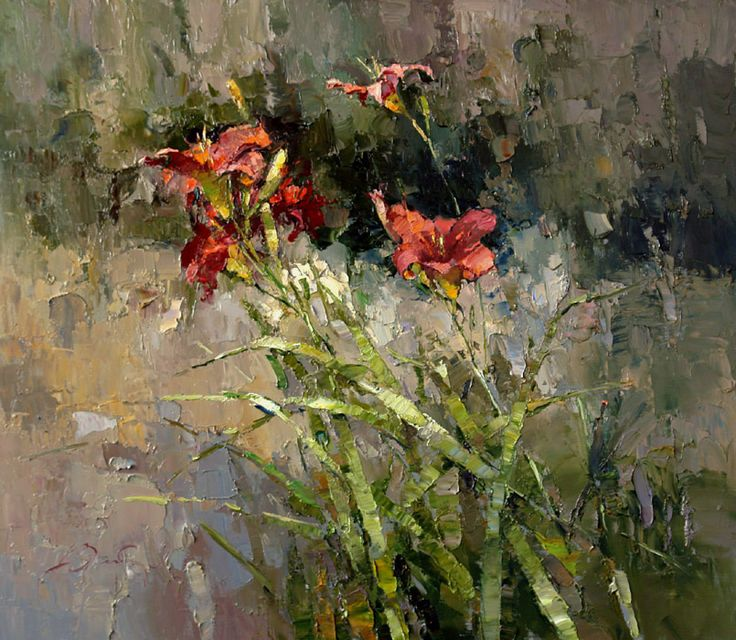 Red day-lily(price request) by Alexi Zaitsev