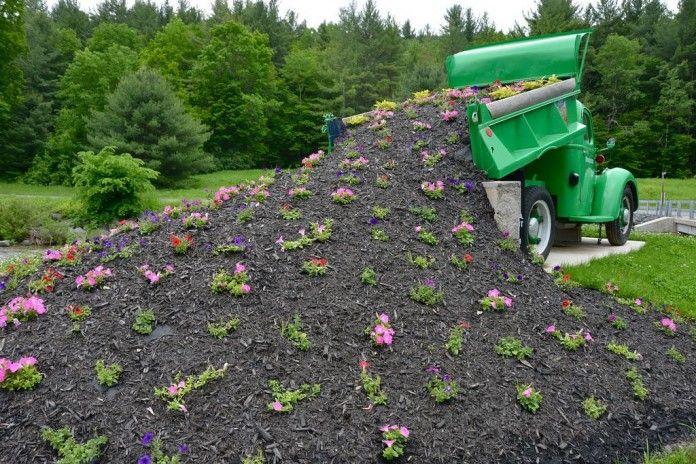Spilled Flowers Dump Truck