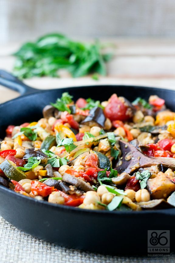 Mark Bittman's Chickpea Ratatouille #vegan #glutenfree #recipe