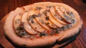 ブルーチーズとリンゴのヘルシーピザ