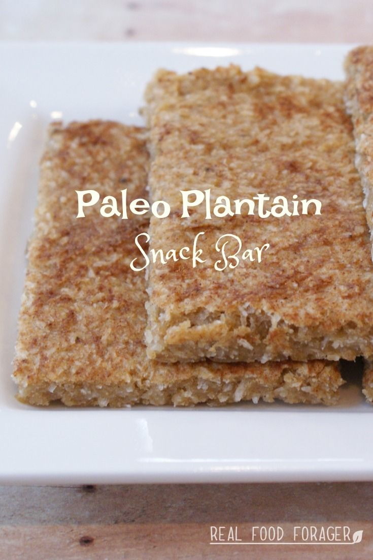Paleo Plantain Snack Bar (Nut-Free, Egg-Free, Paleo, AIP). Make ahead and grab and go!