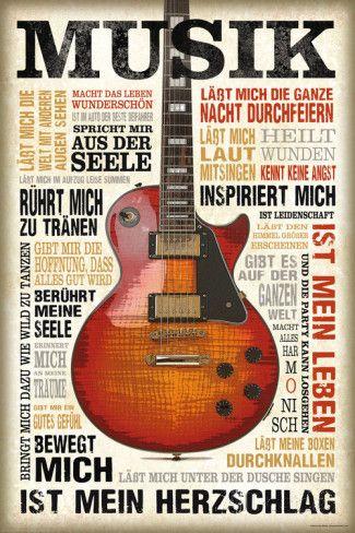 Passion musique - en allemand Affiches sur AllPosters.fr
