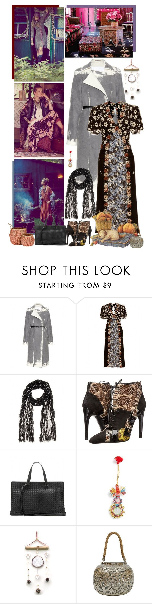 """""""She who is wise never tries to revise what is past and gone"""" by fashionqueen76 ❤ liked on Polyvore featuring Free People, Bottega Veneta, Shiraleah, Dot & Bo and Murmur"""