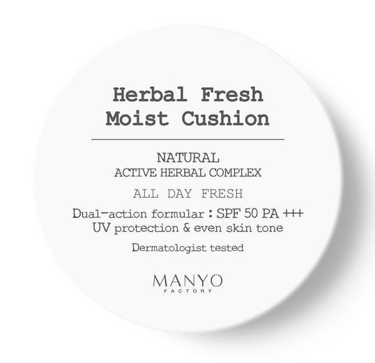 Herbal Fresh Moist Cushion SPF50 PA+++ (Main 18g + Refill 18g / Free Gift puff)  #ManyoFactory